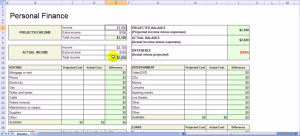 Excel Template Finance Personnelle Sobolsoft 7