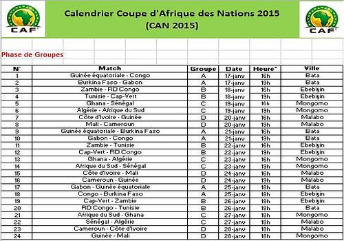 Calendrier comp tition football can 2015 mod les excel - Calendrier coupe d europe 2016 ...