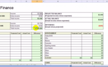 Excel Template Finance Personnelle Sobosoft 7.0